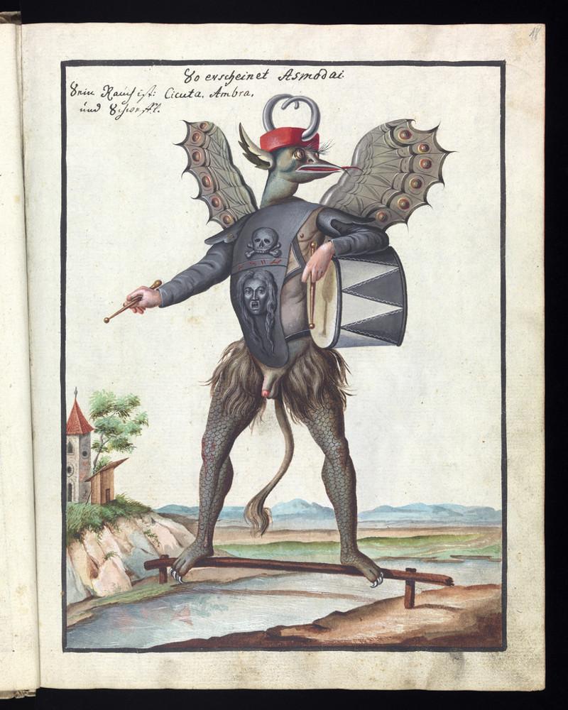 f73d79c3b820 Дьявол и его слуги  демонические иллюстрации оккультной книги 18 века
