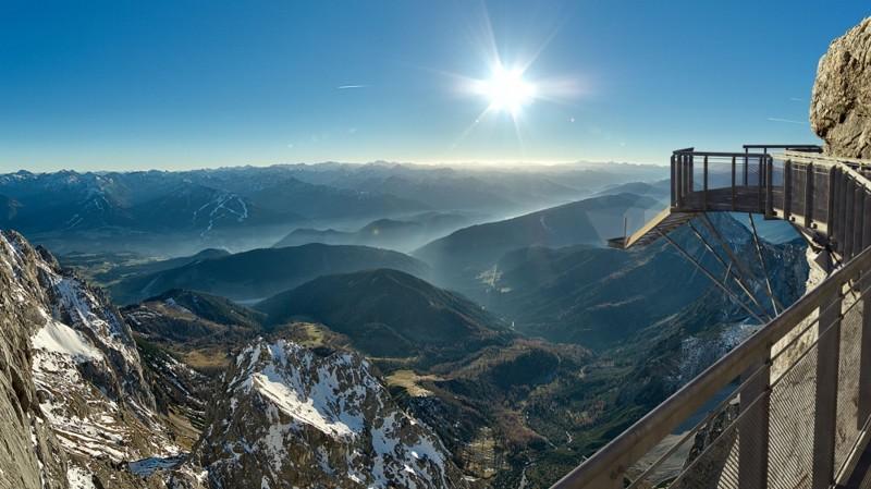 Мост на леднике Дахштайн, Австрия дух, захватывает, красота