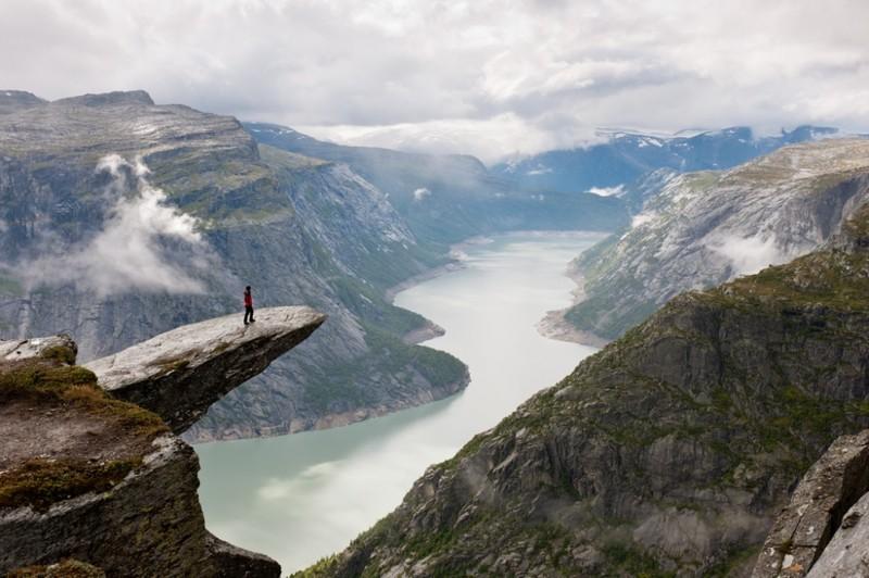 Язык тролля, Норвегия дух, захватывает, красота