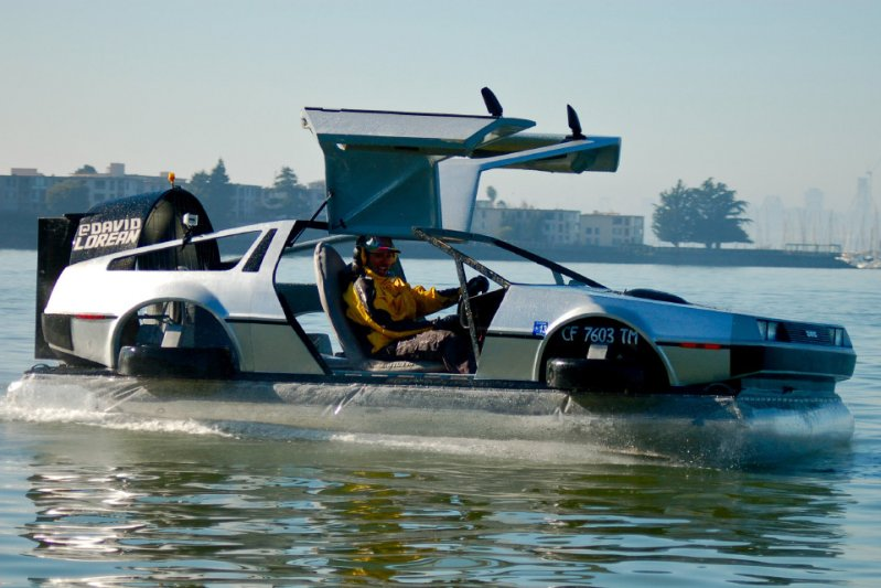 DeLorean авто, воздушная подушка, хаверкрафт