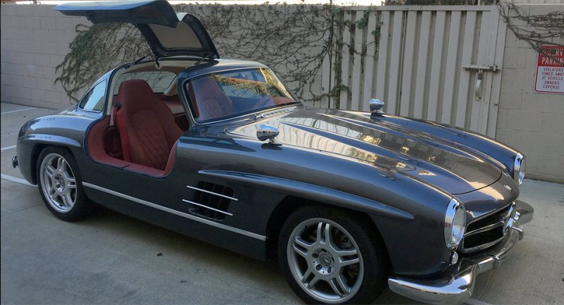 Реплика Mercedes-Benz Gullwing с современной начинкой 300SL, gullwing, mercedes-benz, копия, реплика