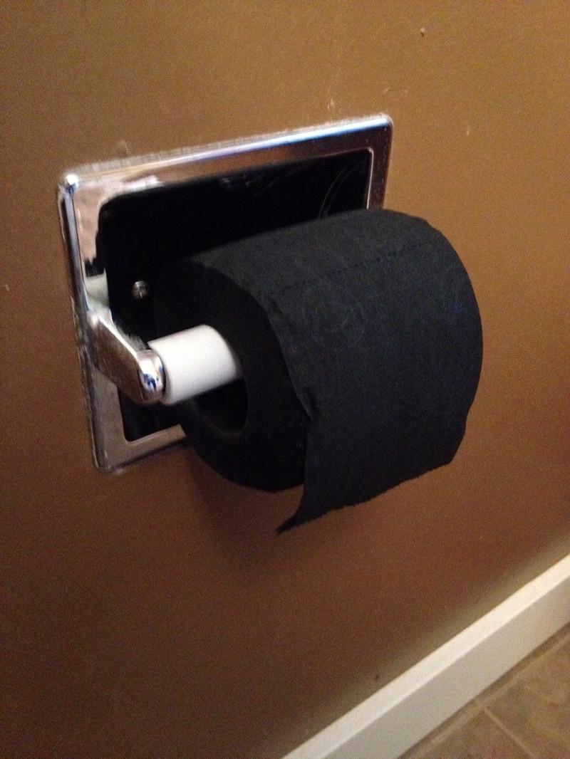 15. Черная туалетная бумага мир, странность, фотографиями