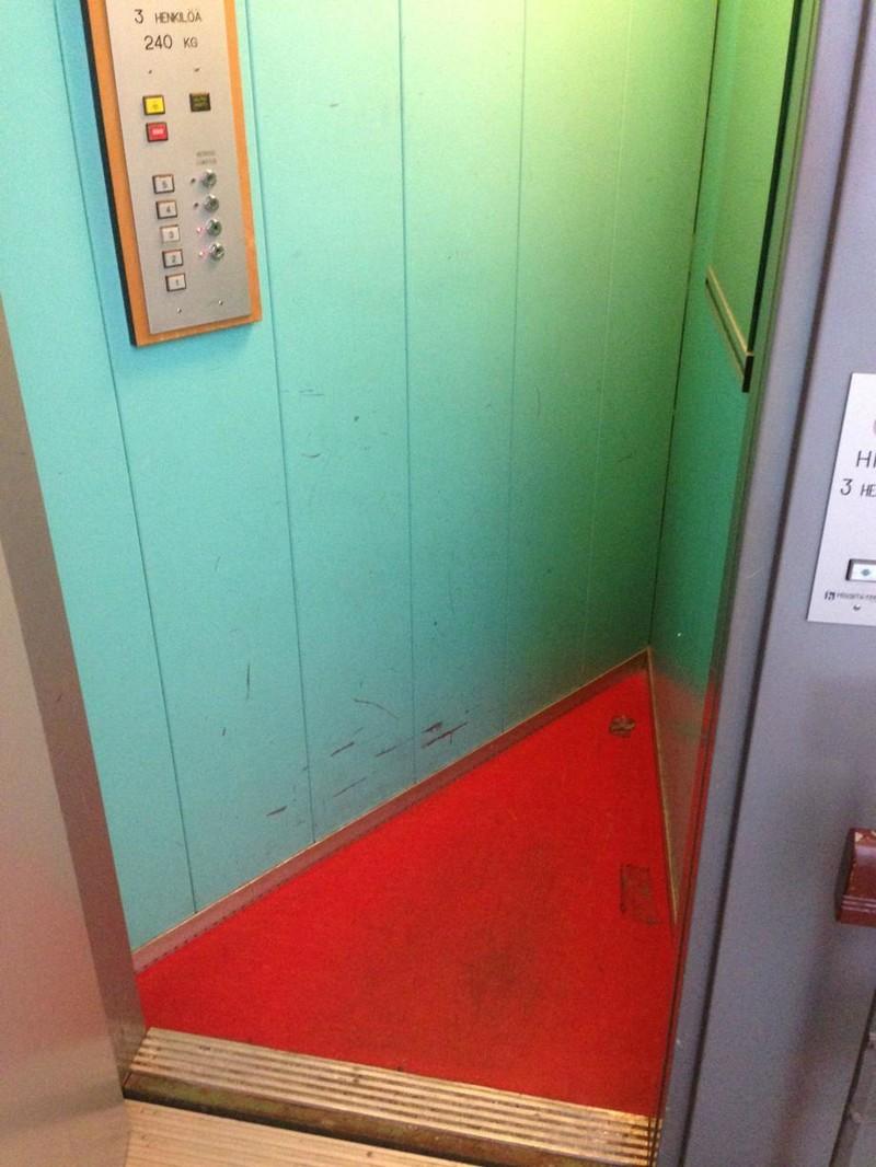 6. Треугольный лифт мир, странность, фотографиями