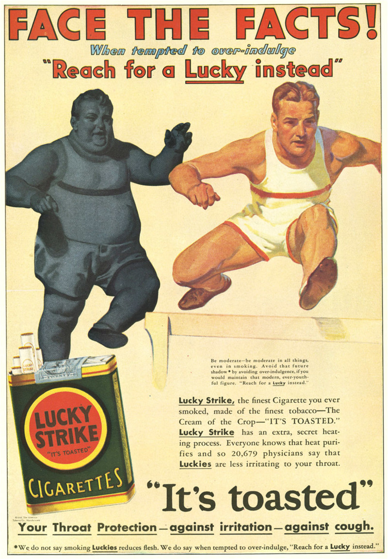 "История марки сигарет ""Lucky Strike"" история, сигареты, фото"