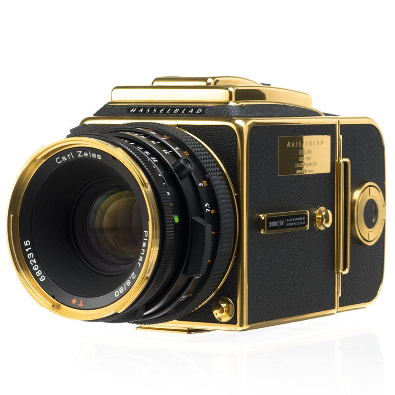 """Hasselblad 500C/M Medium Format Gold Exclusive Camera"""