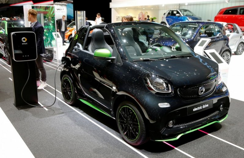 Smart Fortwo Cabrio Electic Drive автовыставка, женева, женева 2017
