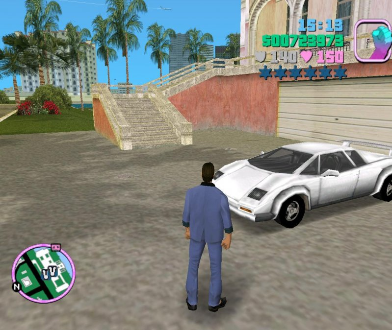 Lamborghini из GTA Vice City lamborghini, бумага, малайзия, суперкар