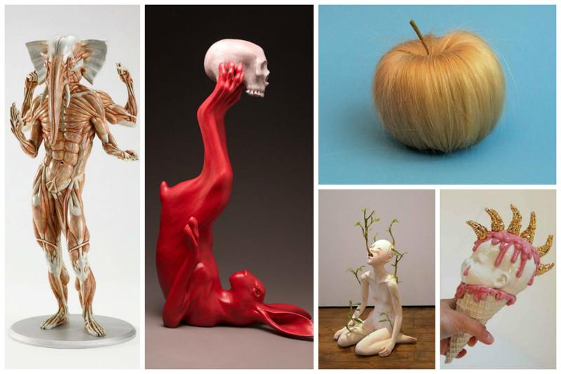 Сумасшедшие душевные арт-порывы современного искусства art, Скульптуры, искусство, сумасшествие