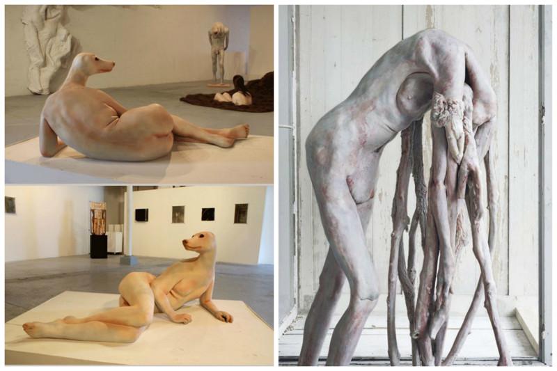 Berlinde de Bruyckere и Leah Brown art, Скульптуры, искусство, сумасшествие