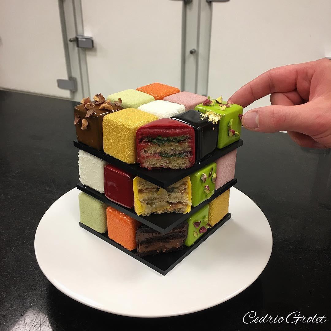 Торт Кубик Рубика, МК - У самовара - Украшение тортов 35