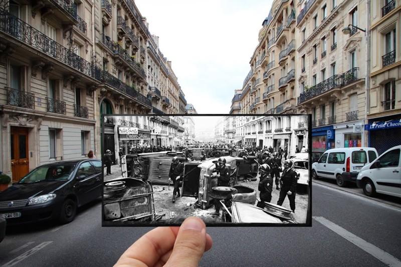 1968 — Студенческие протесты в Латинском квартале париж, художник