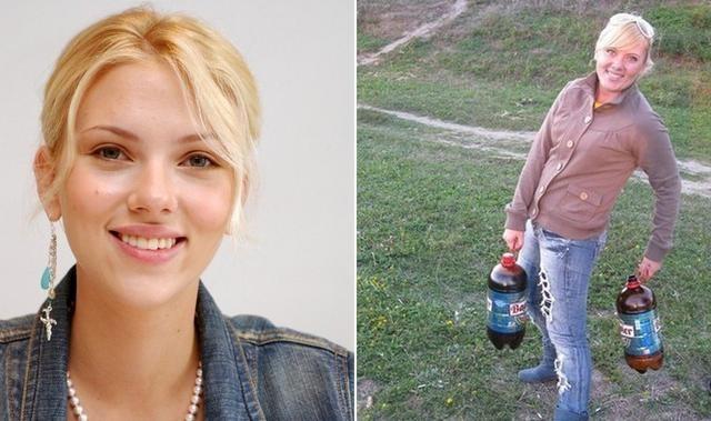 Российская Скарлетт Йоханссон в мире, двойники, знаменитость, люди