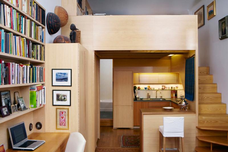 …так и для больших двухъярусная кровать, дизайн, идеи, маленькая квартира