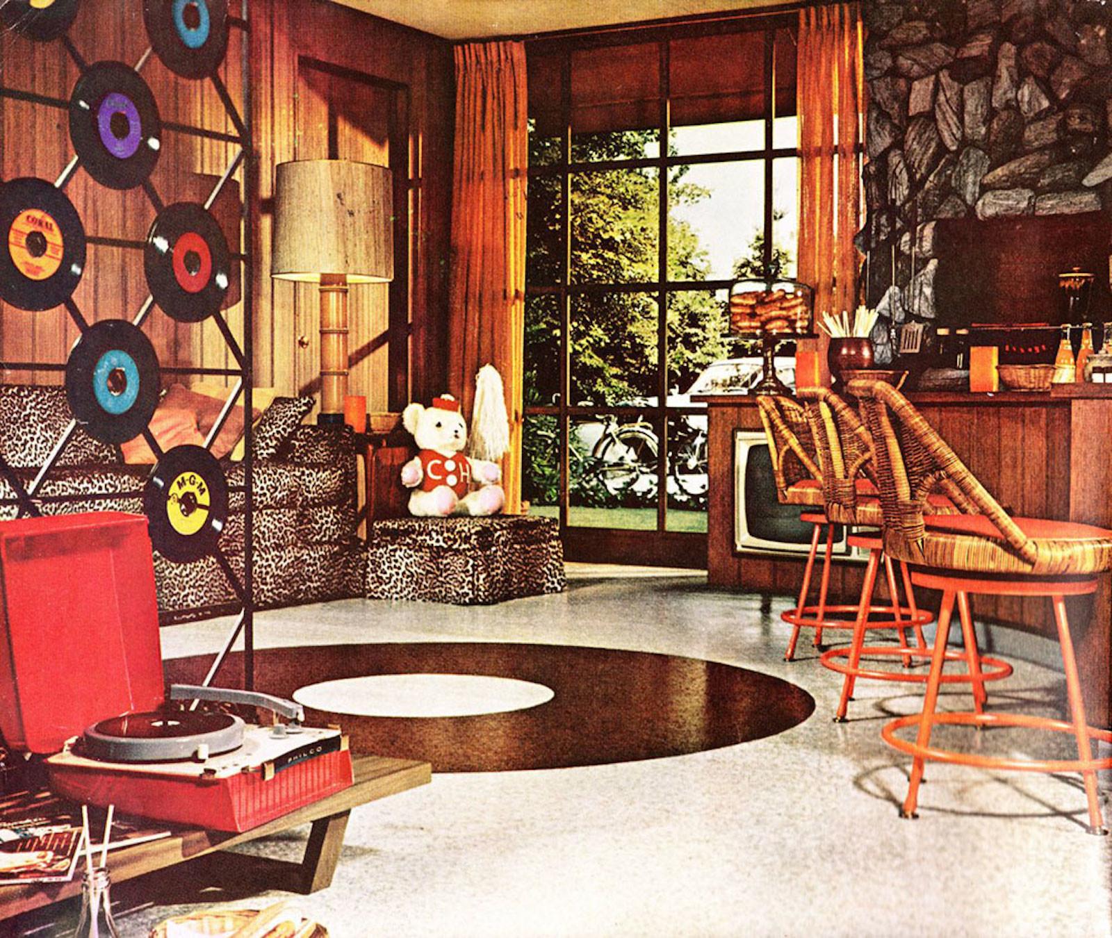 ретро дизайн комнаты картинки удобства