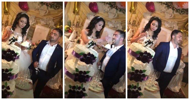 Неотесанный жених на турецкой свадьбе видео, свадьба, торт, турция