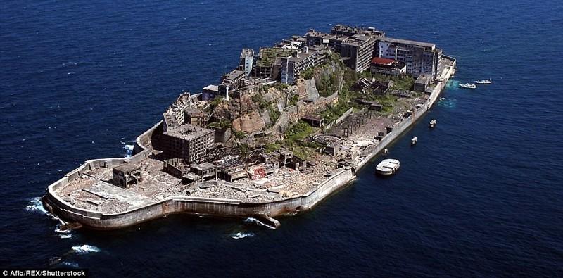 Остров Хашима, Япония брошенные жилища, города, история, опустевшие города, оставленные дома, призраки, страшилки