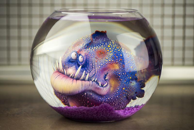 Волшебные обитатели океана в исполнении творческой пары из Польши art, креатив, куклы, полимерная глина, ручная работа, рыбы, творчество, фото