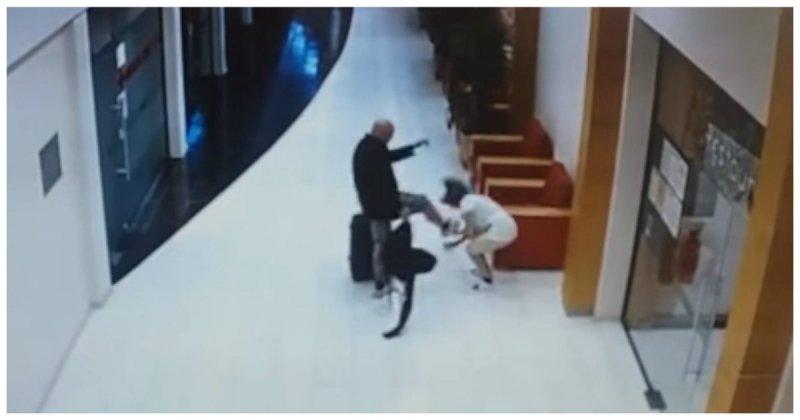 Шокирующее нападение шведского туриста на горничную в болгарском отеле Отель, видео, горничная, жестокость, криминал, нападение, турист