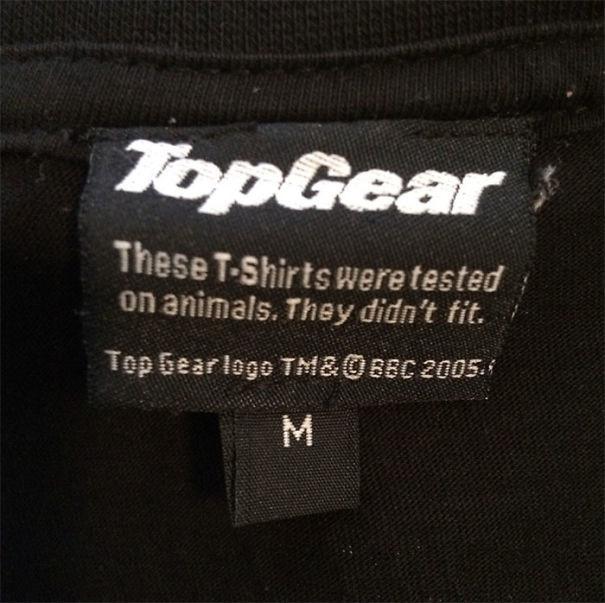 """""""Эта футболка была протестирована на животных. Им не подошла"""" инструкция по применению, креатив, правила, руководство, смешно, фото, юмор, ярлык"""