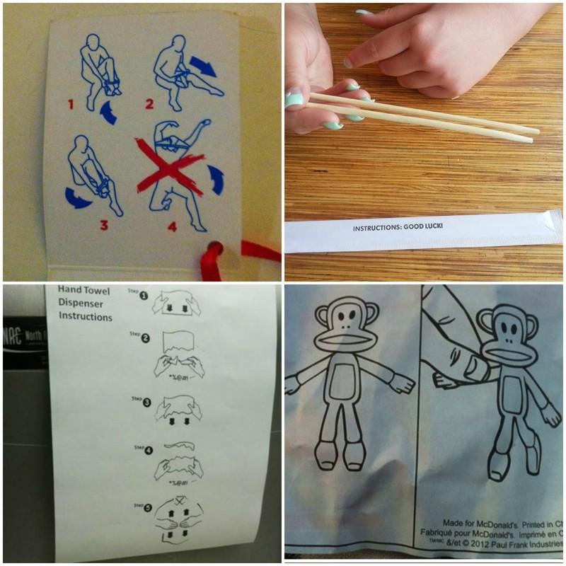 Подборка забавных инструкций по применению инструкция по применению, креатив, правила, руководство, смешно, фото, юмор, ярлык