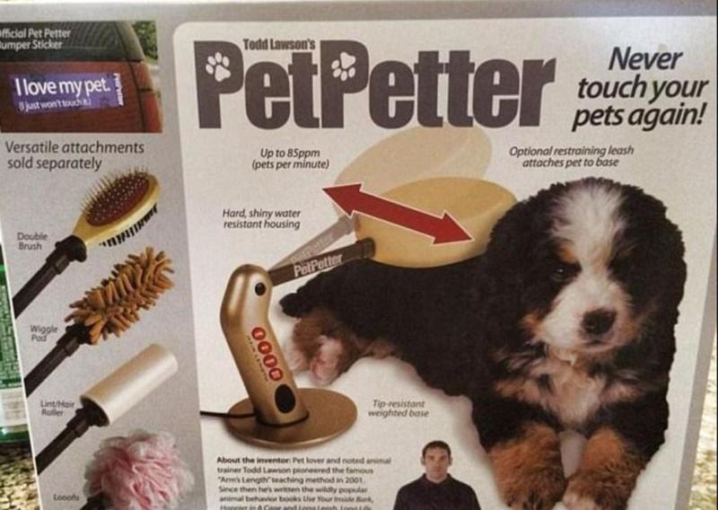 Электрическая чесалка для домашних животных бессмысленные идеи, бессмыслица, глупо, дурацкие изобретения, идиотизм, изобретатели, изобретения, смешно