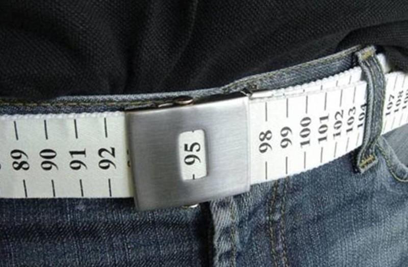 Ремень-измеритель, показывающий, не пора ли вам на диету бессмысленные идеи, бессмыслица, глупо, дурацкие изобретения, идиотизм, изобретатели, изобретения, смешно