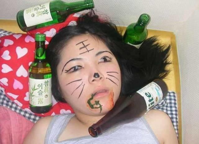 Женщины после пьянки