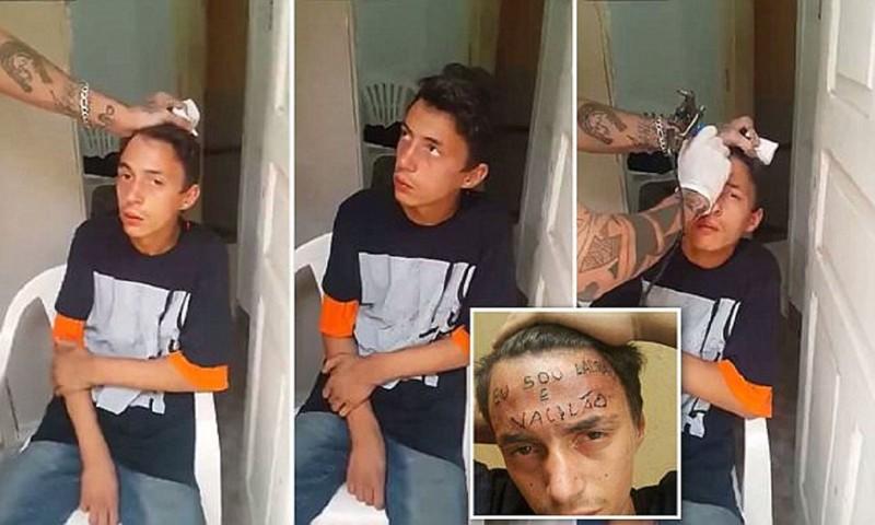 Тату-мастер профессионально наказал юного вора бразилия, кража, малолетний правонарушитель, мастер татуировок, преступление, самосуд