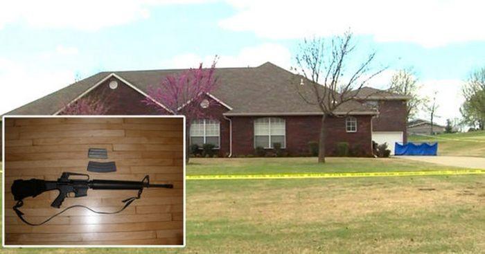 В США сын хозяина дома расстрелял из винтовки троих грабителей винтовка, грабитель, дом, расстрелял, сша, хозяин