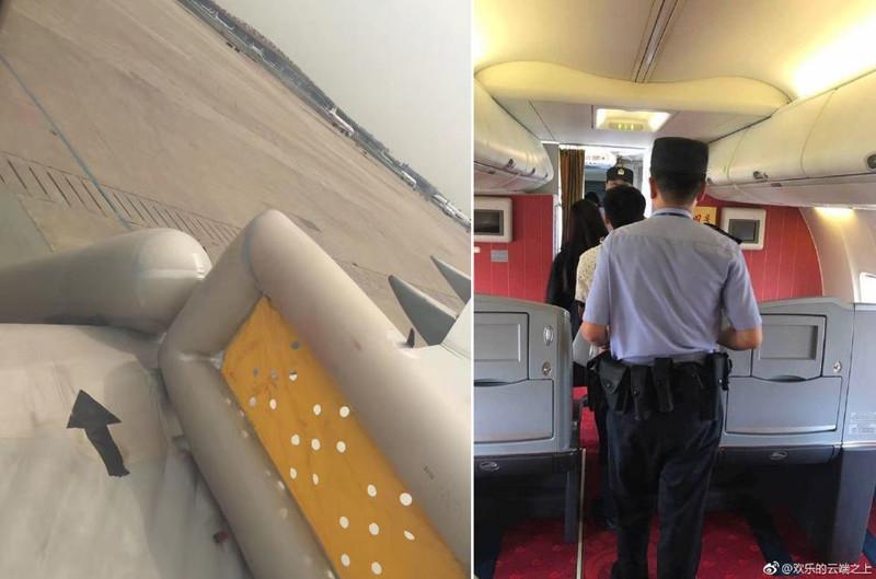 Китаянка из любопытства открыла аварийный выход самолета аварийный выход, авиакомпания, любопытство, пассажирка, пекин, рейс, самолет