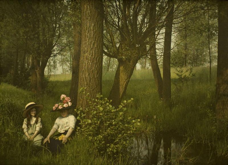 1910 год XX век, автохром, братья Люмьер, краски, столетие, фотографии, фототехника, цвет