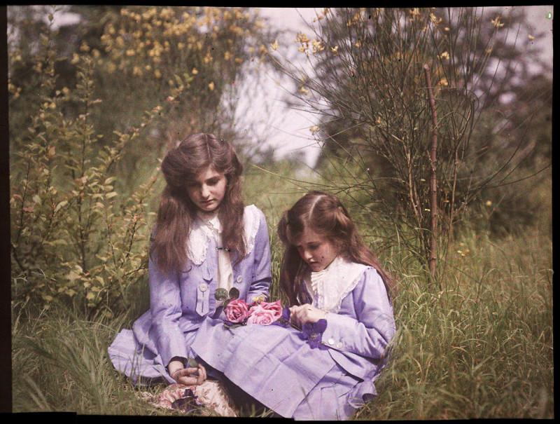 1911 год XX век, автохром, братья Люмьер, краски, столетие, фотографии, фототехника, цвет