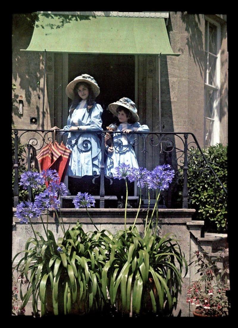 1908 год XX век, автохром, братья Люмьер, краски, столетие, фотографии, фототехника, цвет
