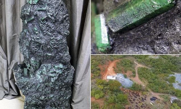 """""""Я не разглашаю информацию, так как не хочу рисковать жизнью и своей семьей"""", - говорит владелец камня бразилия, добыча ископаемых, драгоценный камень, изумруд, полезные ископаемые, раскопки, фото, шахта"""