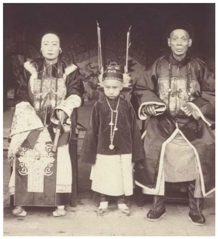 Семейный портрет Маньчжу интересное, история, китай, фото