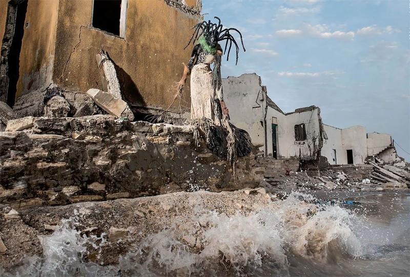 Наряды из мусора в стиле высокой моды senegal, берегите природу, в мире, дизайн, креатив, мода, мусор, планета
