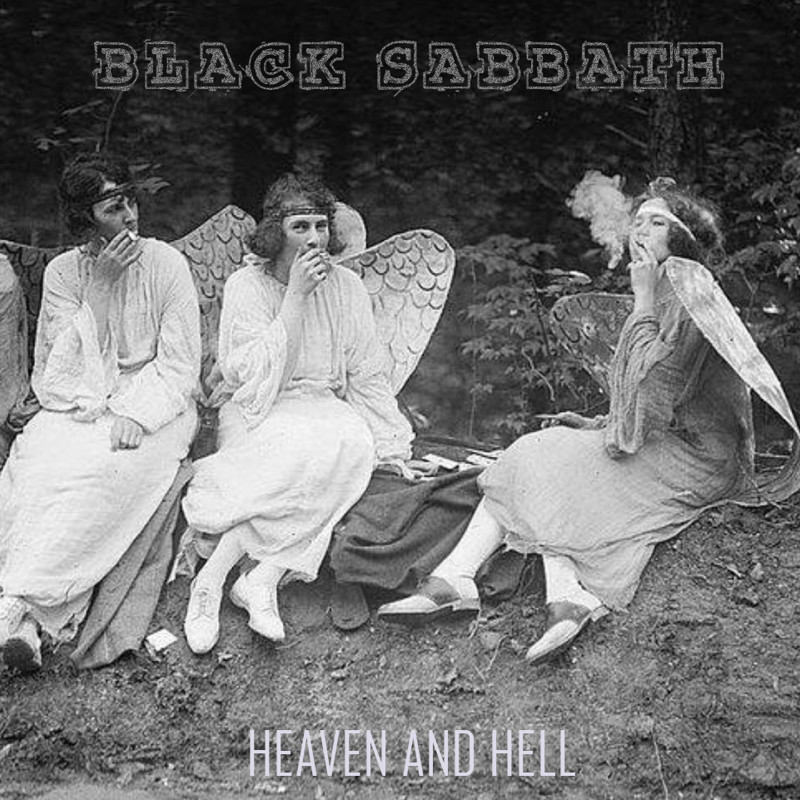 "Black Sabbath ""Heaven and Hell"" cover art, music, rock, прикол, юмор"