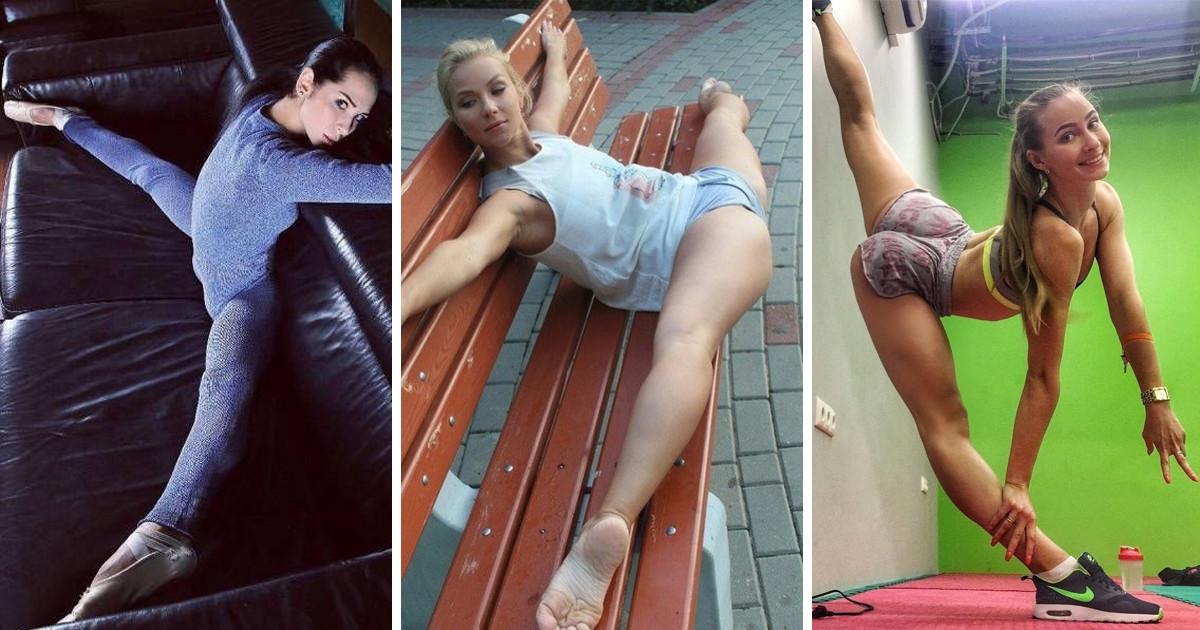 Растяжка ног без трусов девушек — img 13