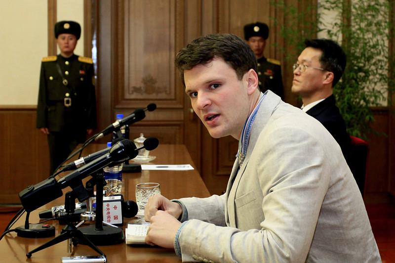 В США скончался студент Отто Уормбир, который был осужден в КНДР за попытку украсть плакат Отто Уормбир, в мире, закон, кндр, люди, смерть, студент, сша