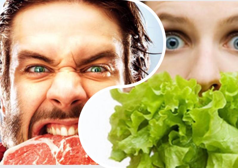 Кто кого? Противостояние вегетарианцев и мясоедов без мяса, веганы, вегетарианцы, еда, интересно, сыроеды, фрукторианцы