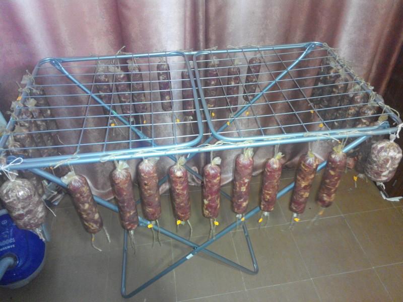 Вот, в чем истинное предназначение сушилки для белья вкусно, домашнее, золотые руки, колбаса, муж