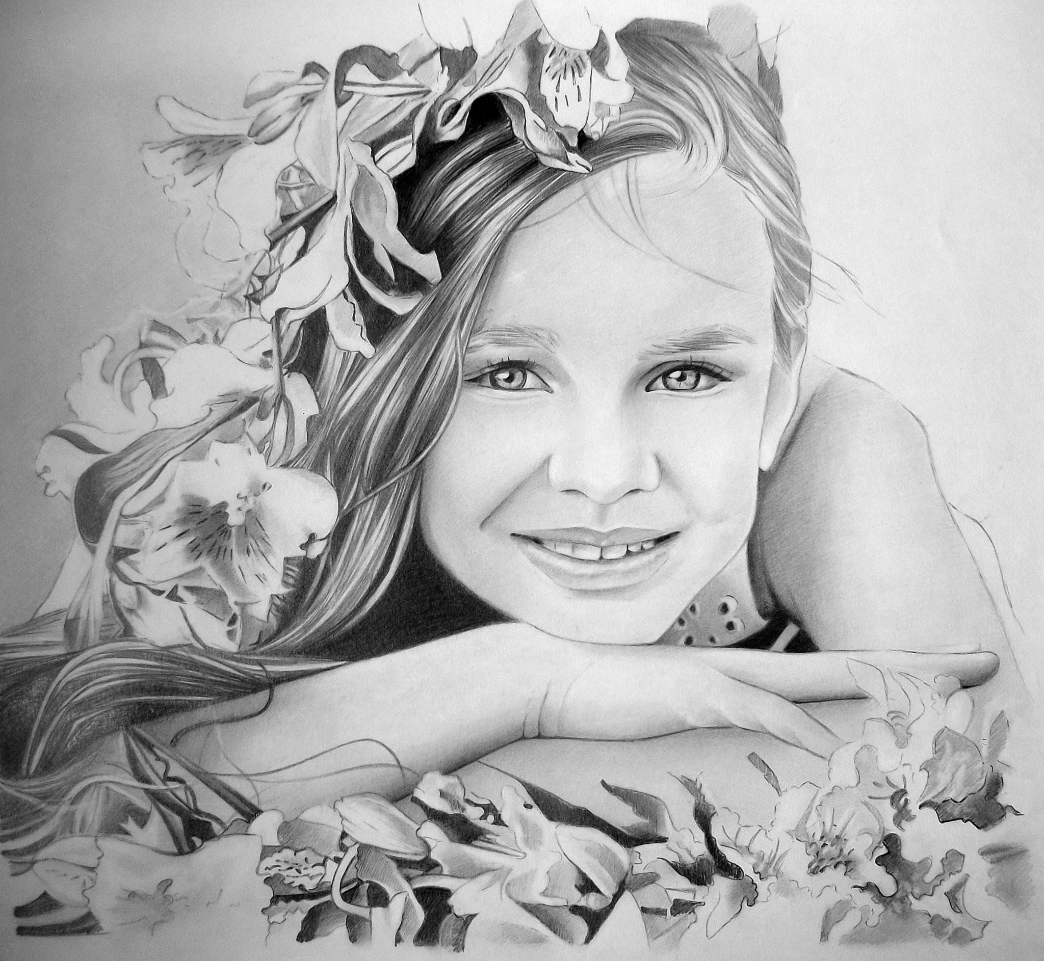 Картины карандашом девушки