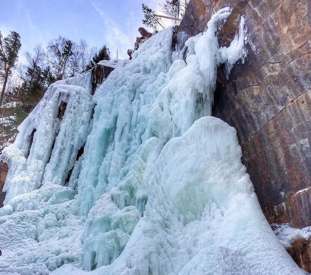 Красноярский край водопады, водопады России, водопады зимой, замёрзшие водопады, красивые водопады, природа России