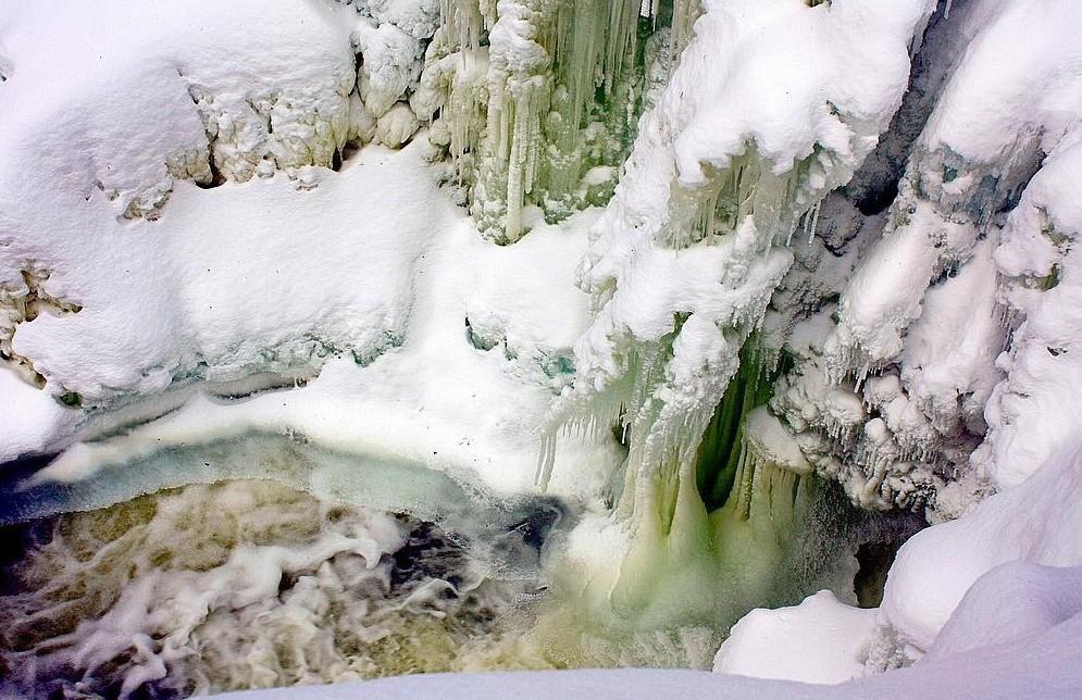 Кивач, Карелия водопады, водопады России, водопады зимой, замёрзшие водопады, красивые водопады, природа России