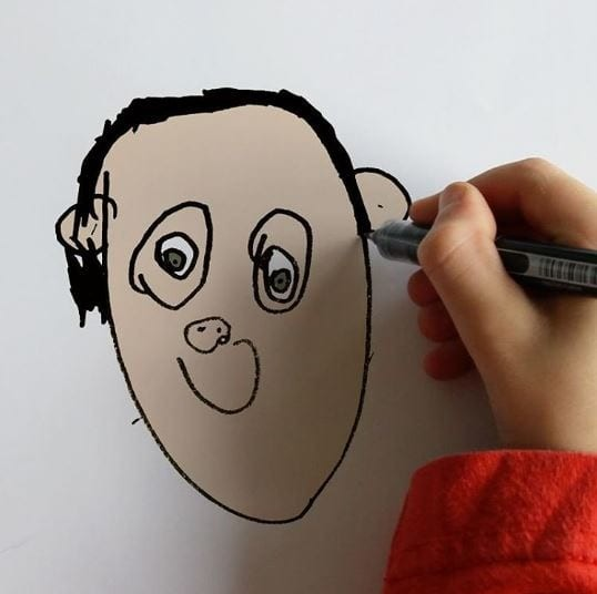 И напоследок - портрет любимого папы Instagram, дети, иллюстрации, креатив, рисунки, творчество, фотошоп, юмор