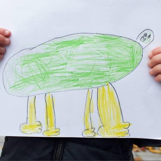 Так выглядит лягушка глазами ребенка Instagram, дети, иллюстрации, креатив, рисунки, творчество, фотошоп, юмор