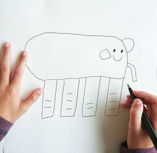 Слоник Instagram, дети, иллюстрации, креатив, рисунки, творчество, фотошоп, юмор