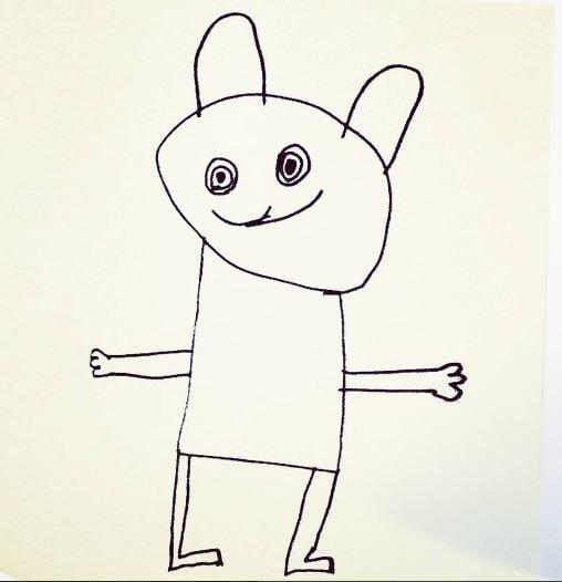Очаровательный кролик Instagram, дети, иллюстрации, креатив, рисунки, творчество, фотошоп, юмор