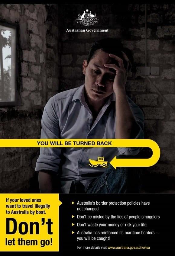 Австралийцы провели рекламную кампанию для будущих нелегальных иммигрантов Багдад, Странная реклама, австралия, биллборды, ирак, нелегальная иммиграция, последнее предупреждение, рекламная кампания
