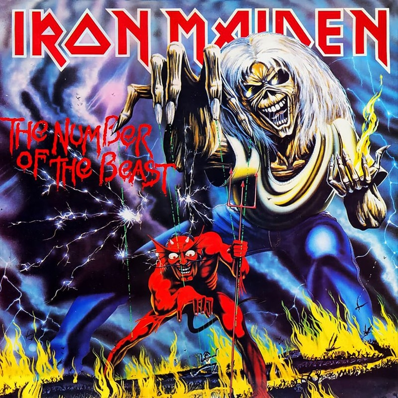 4. Iron Maiden, 'The Number of the Beast' (1982) the 100 geatest metal albums, the rolling stone, металл
